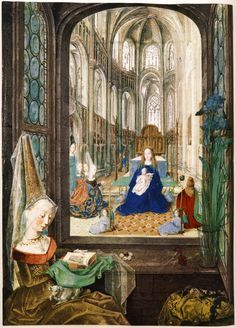 Mary of Burgundy Reading Her Book of Hours, from the Book of Hours of Mary of Burgundy, Österreichische Nationalbibliothek, Vienna.
