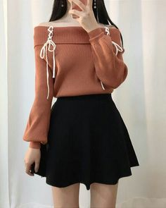 Bild von Amber P entdeckt.) Deine eigenen Bilder und Vi… Picture of Amber P discovered. Discover (and save!) Your own pictures and videos! – K-fashion_cute / feminine – K Fashion, Ulzzang Fashion, Teen Fashion Outfits, Mode Outfits, Kawaii Fashion, Skirt Outfits, Cute Fashion, Asian Fashion, Winter Fashion