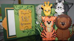 Technique Punch Art intérieur de la carte Bienvenue dans la jungle...Tigre, Lion, Girafe, Zàbre Hippopotame et Éléphant Punch Art, Lion, Creations, Welcome To The Jungle, Hippopotamus, Cards, Leo, Lions