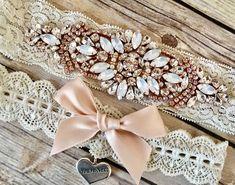 Unicorn Sparkle White Satin Keepsake Prom Wedding Bridal Garter Pink Unicorn Charm