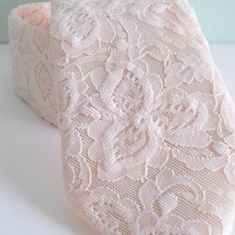Blush Lace Neck Tie by HandsomeAndLace on Etsy