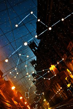 Via Pietro Micca, Constellation, Christmas at Turin, Italy.  #Torino #lucidartista