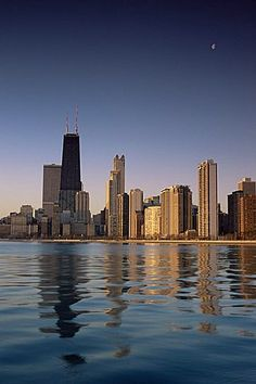 City skyline from North Avenue Beach, Chicago, Illinois, United States of…