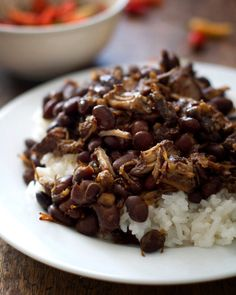 Crockpot Pork Adobo with Black Beans - Pinch of Yum