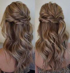 Pretty Half up half down hairstyles