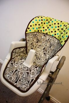 Recovered High Chair. My cover is completely falling apart. I really want to make a new one.