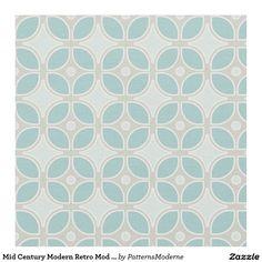 Mid Century Modern Retro Mod Square Pattern Decor Fabric