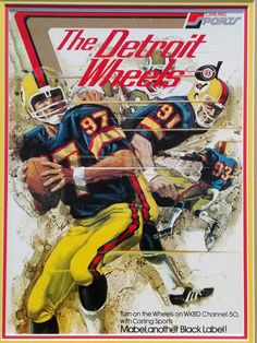 • The Detroit Wheels football team only played one season in the mid 70's and then disappeared. However, I do not assume that my assessment of condition will be the same as your assessment. You should therefore expect some imperfections. | eBay!
