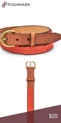 Fossil Skinny Chili Pepper Belt PRODUCT DETAILS Material: Leather Hardware: Old English Brass Width: 25 mm Fit: This belt is designed to be worn with jeans. Measurements: (L) 36.5-4 Fossil Accessories Belts