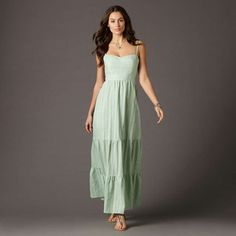 welcome to my closet :)  scarlet maxi dress in green by fossil