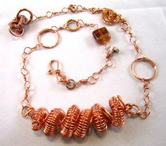 Tesla Coil  Copper Spiraling Spirals Necklace by SoBayBaubles, $25.00