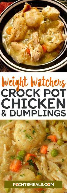 Crockpot Chicken and Dumplings #weight_watchers #dinner #chicken #crockpot #slowcooker