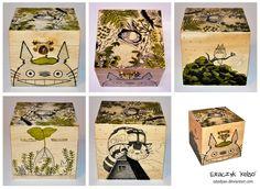 Totoro wooden box by ElaRaczyk.deviantart.com on @DeviantArt