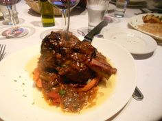 La Couronne, Montclair, NJ: Pork osso buco. http://njmonthly.com/blogs/tablehopwithRosie