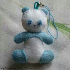 Mini panda chaveiro