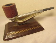 Vintage Falcon Standard FD17 Straight Aluminum Briar Estate Tobacco Smoking Pipe