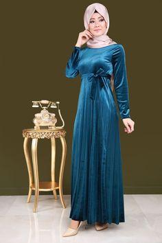 Pilise Detay Tesettür Elbise İndigo Ürün kodu: MDP4044 --> 69.90 TL