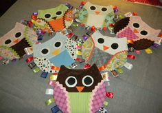 Owl taggies, I know of a sweet baby girl who needs one of these!