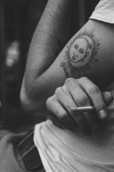 sun / moon tattoo