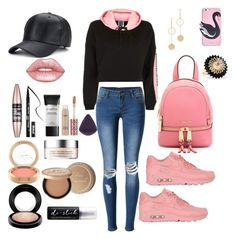 """""""Untitled #965"""" by dbellz on Polyvore featuring Kate Spade, Topshop, NIKE, MICHAEL Michael Kors, Alice Cicolini, WithChic, Lime Crime, Maybelline, Kat Von D and MAC Cosmetics"""