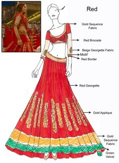 Ram Leela fashion lehenga - DIY