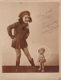 """Our Gang """"Little Rascals"""" ACTUAL VINTAGE classic photo, Dorothy DeBorba SIGNED."""