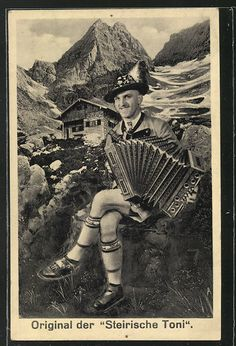 Vintage postcard 1938. He's so happy!