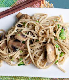 Kamut Udon & Mushroom Stir Fry #recipe