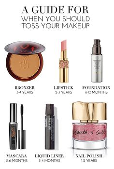 A guide for when you should toss your makeup | theglitterguide.com
