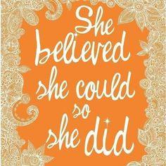 She Did!