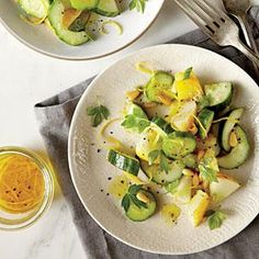 Cucumber and Herb Salad with Pine Nuts | MyRecipes.com