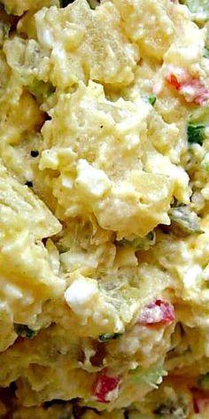 Deviled Egg Potato Salad, Deviled Eggs, Egg Salad, Salad Dressing Recipes, Pasta Salad Recipes, Salad Bar, Soup And Salad, Potato Dishes, Potato Recipes