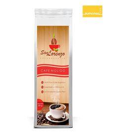 Etiqueta propuesta para café San Lorenzo - La convención - Perú . Desing for Antonio Miranda Madrid SUMAMOS