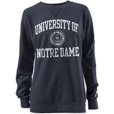 This Notre Dame Oversized Crewneck Sweatshirt is so on-point right now.  It's the perfect length to wear with leggings.