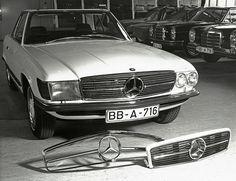 1971 Mercedes-Benz 350SL (R107) wooden mock-up