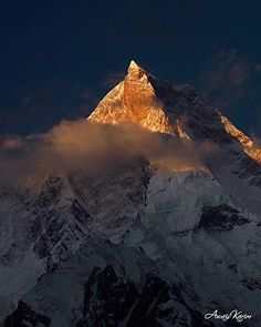 K1 (MashaBrum peak 7821 m) Baltoro Glacier, Karakoram range, Pakistan -by AKB Photography