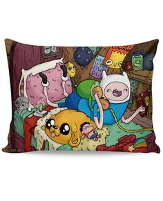 Finn and Jake Telephone Game Pillow Case