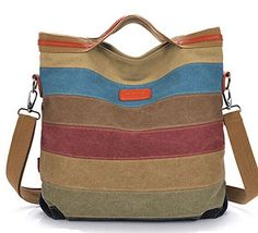Buenocn Leisure Canvas Top Handle Cross Body Bag Tote Handbags for Women Ls3417 ** Want additional info? Click on the image.