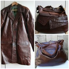 Convert your old leather coat into a luxurious leather bag! http://luzpatterns.com/diy