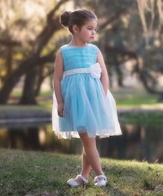 Trish Scully Child Blue Margaux Dress - Infant, Toddler & Girls | zulily