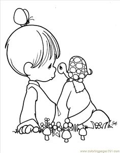 free printable coloring image Precious Moments 1 (7)