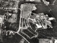Aerial view of GMU in 1974.--wow look how small my school used to be