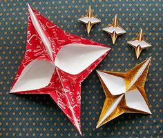 Origami Christmas Star – A Video Tutorial Made from gift bags