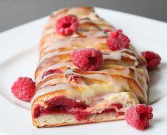 The combination of the soft, buttery pastry dough, raspberry filling and a powdered sugar glaze makes for a sweet, melt-in-your-mouth treat that can be made all year long with fresh or frozen berries.
