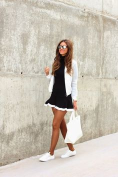 Lady Framboise: Sporty Black&White