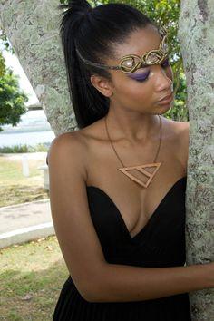 Quartz Necklace worn as a headpiece + Triune Neckace from my line, Isis Jewelry