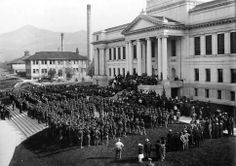 Students Army Training Corps; Reserve Officers' Training Corps; University of Utah, 1918. Photo Courtesy Utah State Historical Society Army Training, University Of Utah, Historical Pictures, Salt Lake City, Historical Society, First World, Dolores Park, Photo Galleries, Students