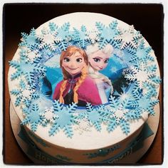 This is one of my favorites on Blue Sheep Bake Shop: Anna & Elsa Frozen Buttercream Cake