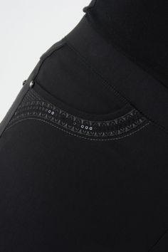 """T19956 Embroidered Pocket Trouser 29"""" Leg"""