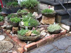 Rock garden idea or herb garden